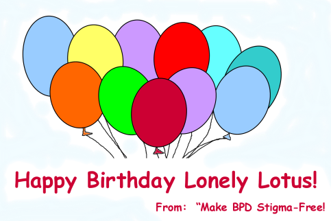 Lotus Birthday Card